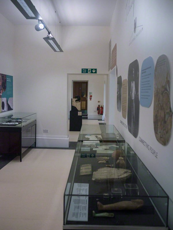 The first gallery. The entrance is to the left of the photo