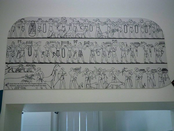 A reproduction of a scene from the tomb of Rekhmire