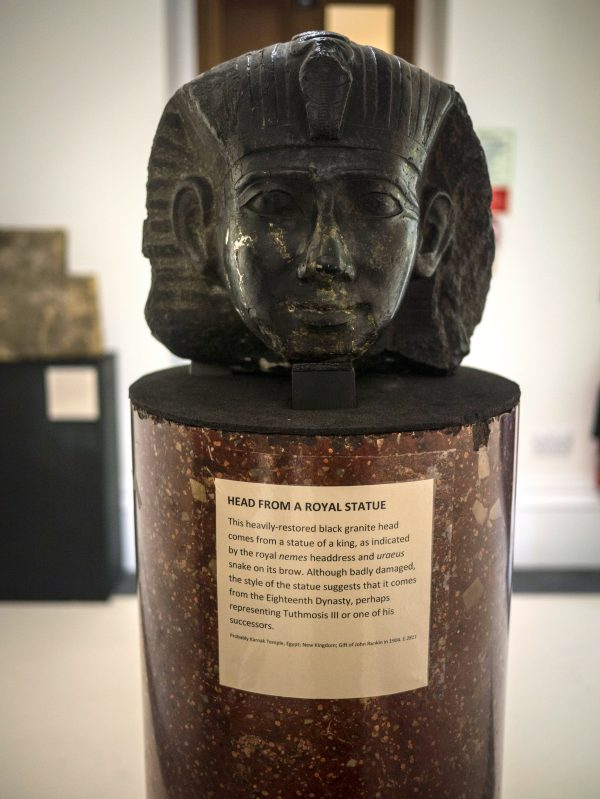 Granite head of an unknown Pharaoh, probably from Karnak (Acc. No. E.2811)