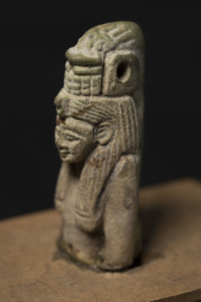 An amulet of the Egyptian goddess Hat-Mehyt.