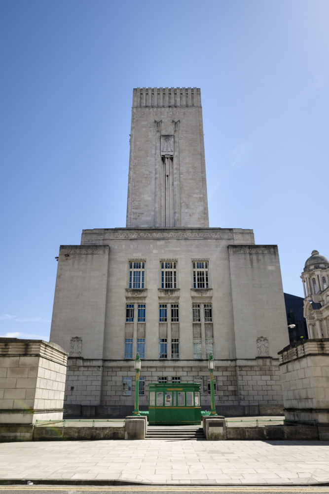 A tall, rectangular tower in the art deco architectural style