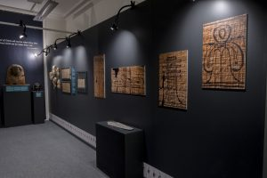 My photos on the walls of the Garstang Museum's Book of the Dead exhibition about ancient Egypt