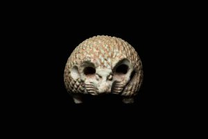 A small ancient Egyptian hedgehog amulet