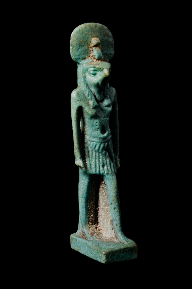 An amulet of Horus as a falcon-headed man