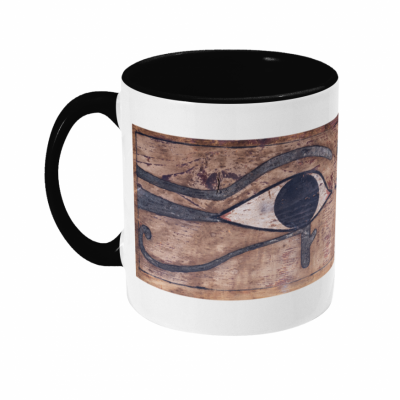 product image for the left-hand-side view of the looking out ancient egyptian eyes ceramic mug