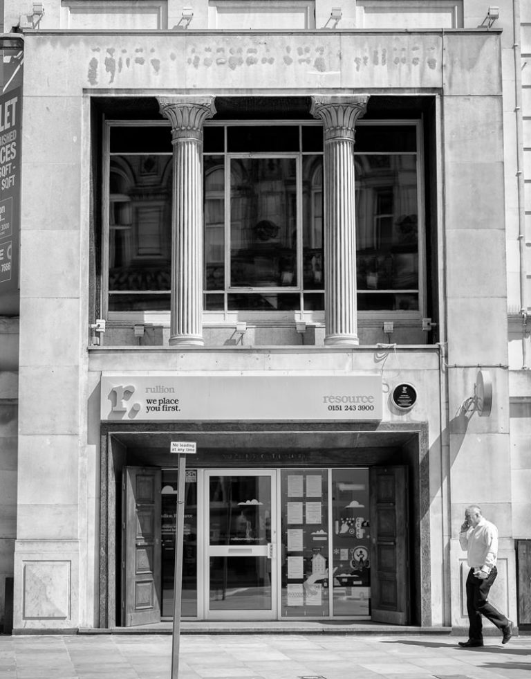 A building in Castle Street, Liverpool, with Egyptian Revival columns on the front