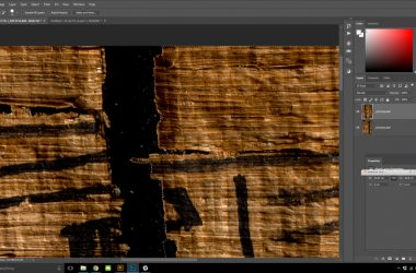 Repairing papyri in Photoshop