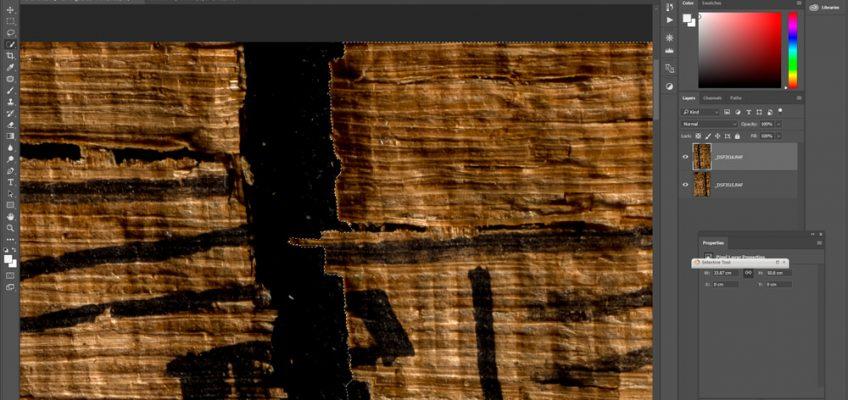 Repairing papyri in Photoshop