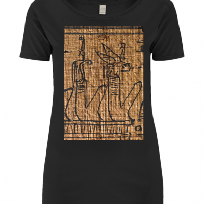 product image for the black underworld deities open-neck ancient egypt t-shirtq