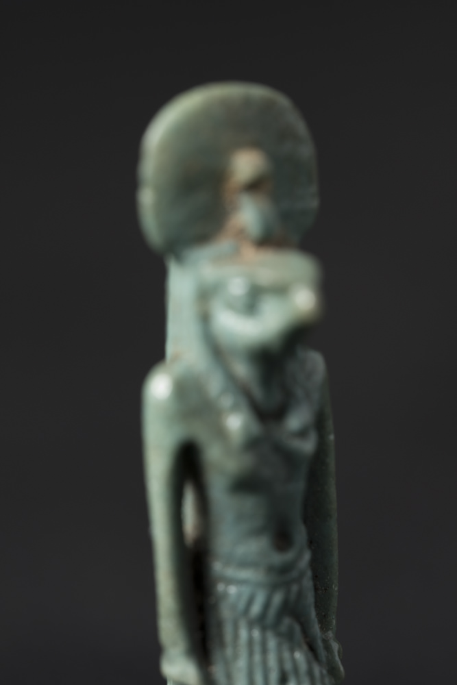 The last picture in a focus stack of an ancient Egyptian amulet of Horus