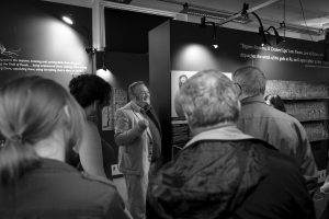 Egyptologist roland enmarch giving a tour at the garstang museum of archaeology