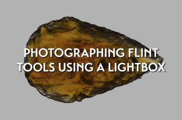 Photographing Egyptian flint tools using a lightbox
