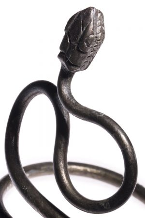 ancient egyptian silver serpent bracelet