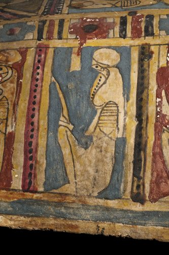 ancient egyptian serpent god on a coffin