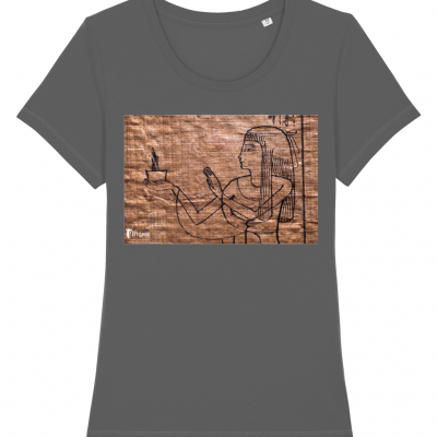 product image for the anthracite perfume of the gods fitted cotton t-shirt
