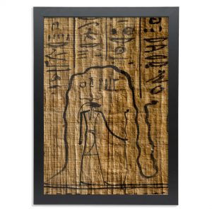 product image of the a3 framed fine-art print of the egyptian god re in the underworld