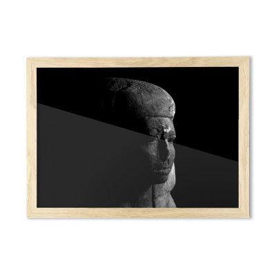 Product image for the lady A3 framed print of an ancient egyptian coffin