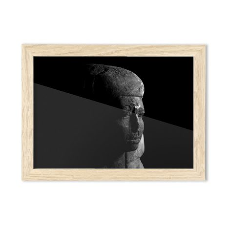 Product image for the lady A4 framed print of an ancient egyptian coffin