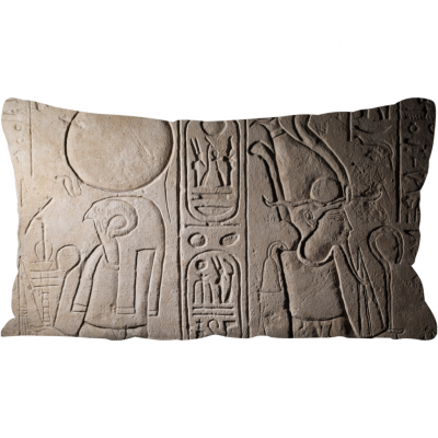 'Re-Horakhty and Osiris' throw cushion