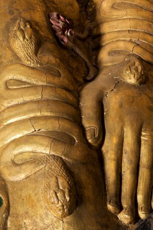 Serpent armbands on an ancient Egyptian coffin
