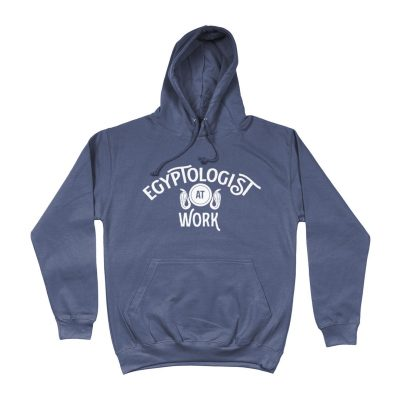product image for the airforce blue egyptologist at work hoodie
