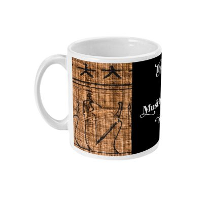 product photo for the teachings of djehu-tea egyptian ceramic mug