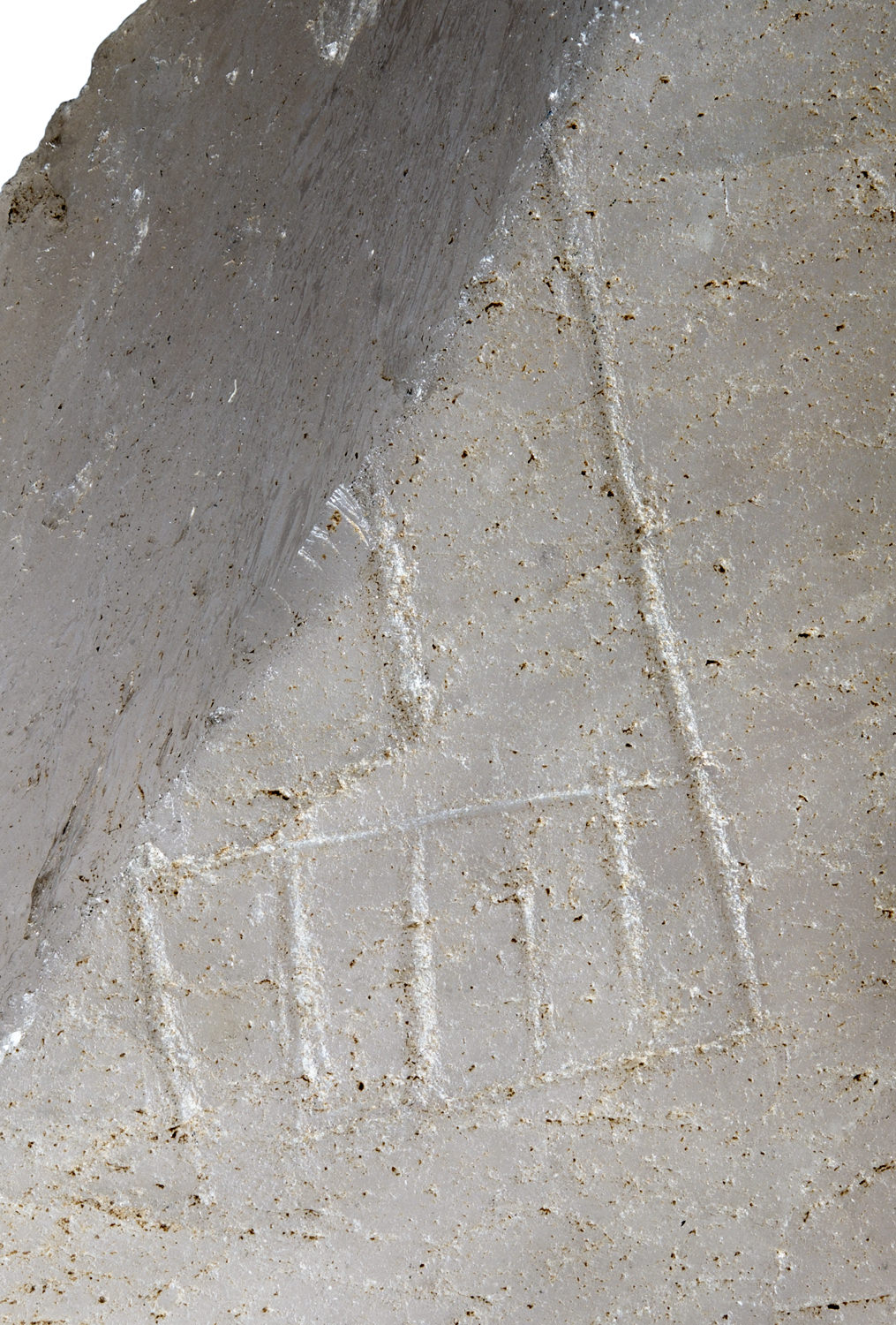 an incised serekh on a piece of ancient egyptian quartz