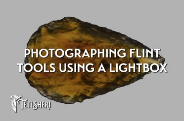 Photographing flint tools using a lightbox