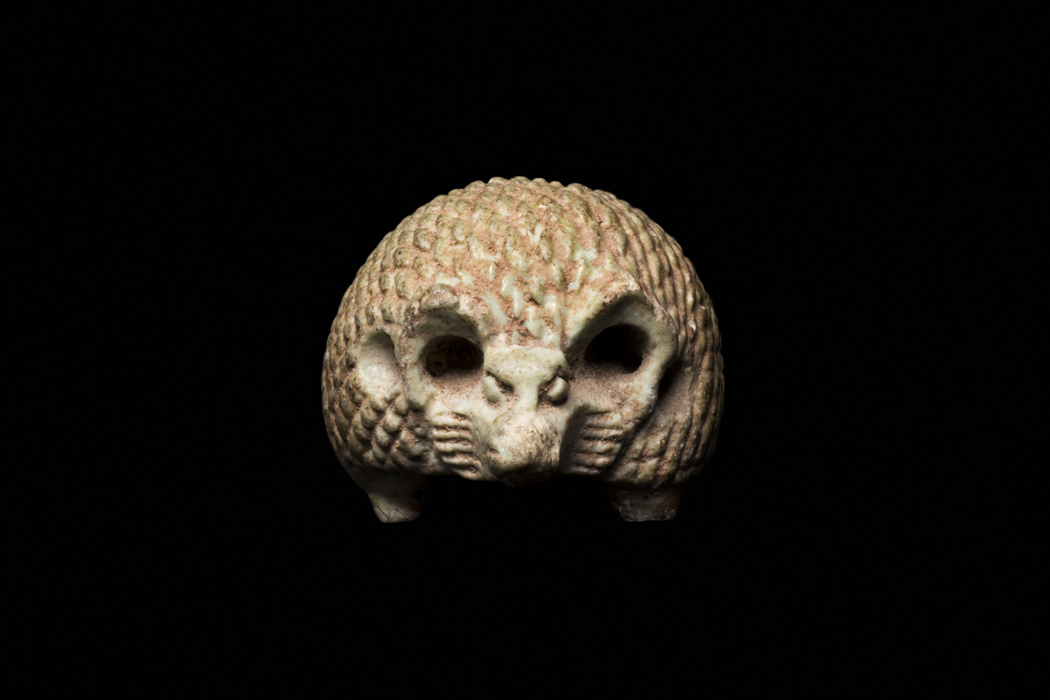 an ancient egyptian hedgehog amulet