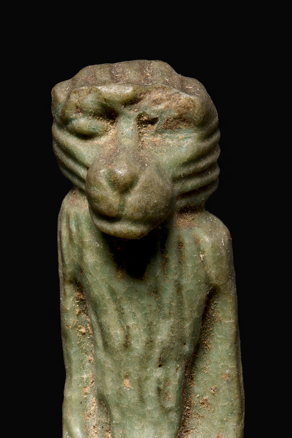 ancient egyptian amulet of a baboon