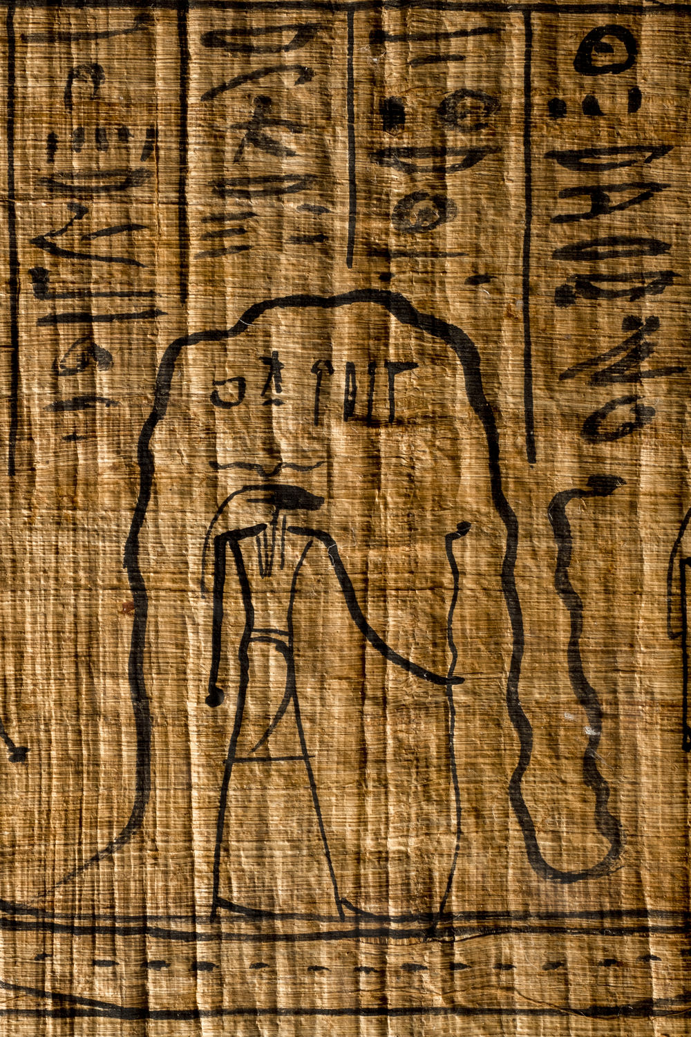 sungod re with a serpent in the egyptian amduat