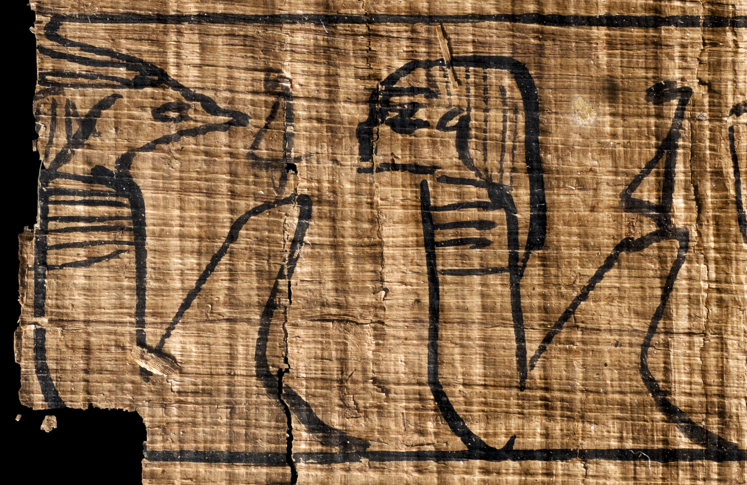 two ancient egyptian deities on papyrus
