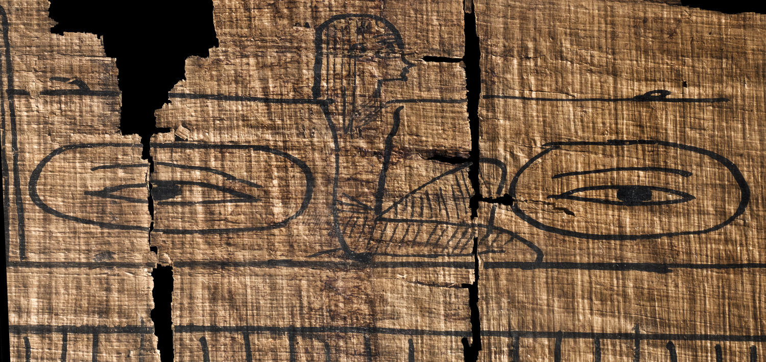 goddess holding eyes in the egyptian book of the dead