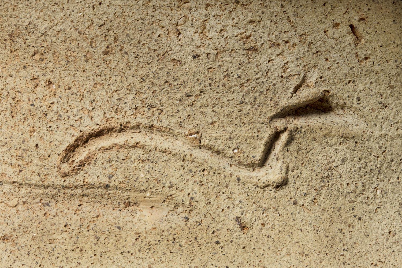 an ancient egyptian serpent on a pot