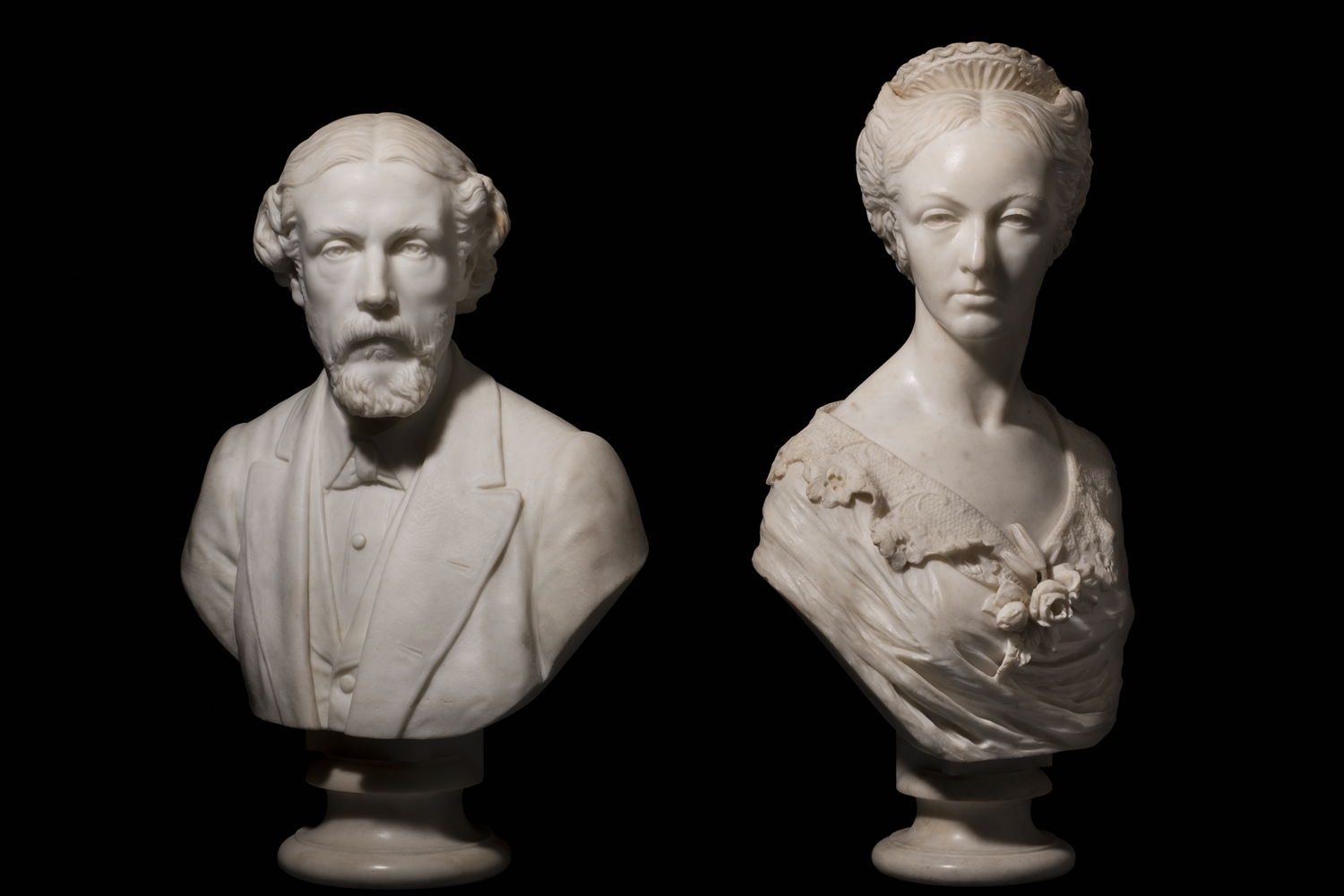 marble busts of jesse and marianne haworth
